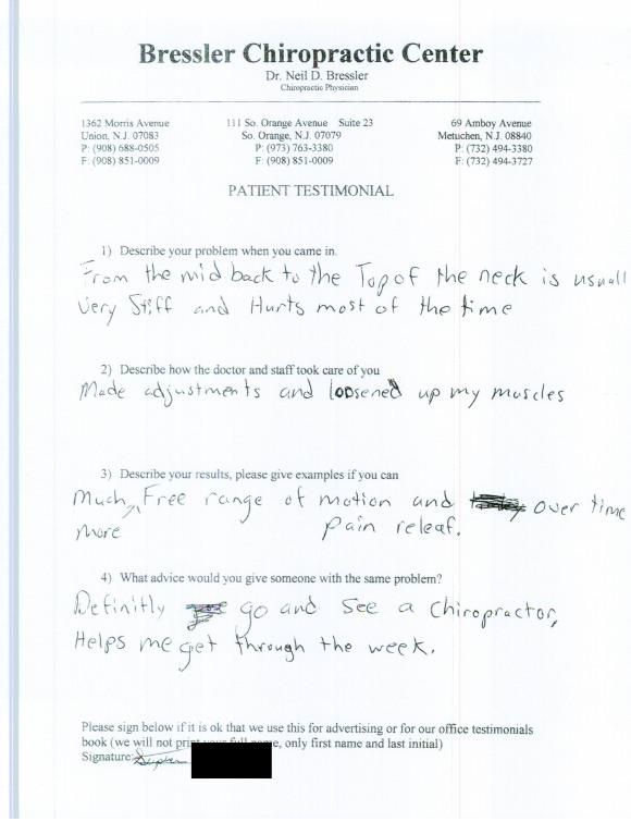 Chiropractor Metuchen NJ - Dr Neil Bressler