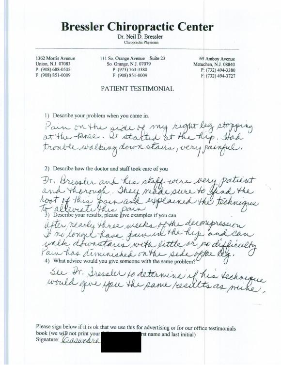 Chiropractor in Metuchen NJ - Dr Neil Bressler 8