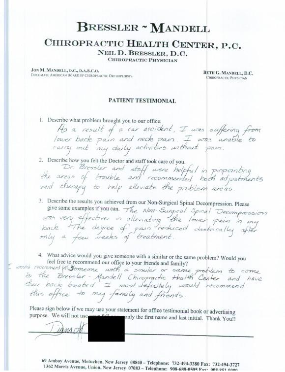 Chiropractor in Metuchen NJ - Dr Neil Bressler 9