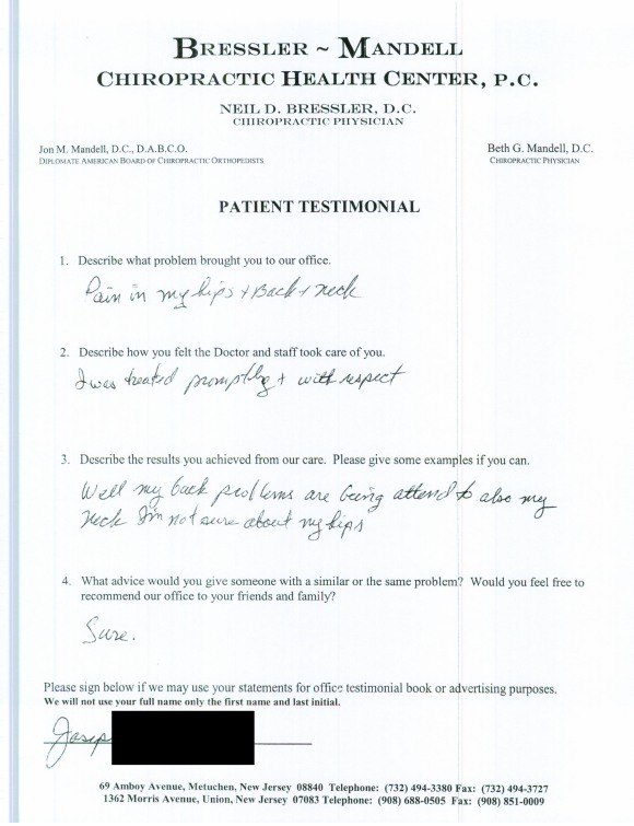 Chiropractor in Metuchen NJ - Dr Neil Bressler 6